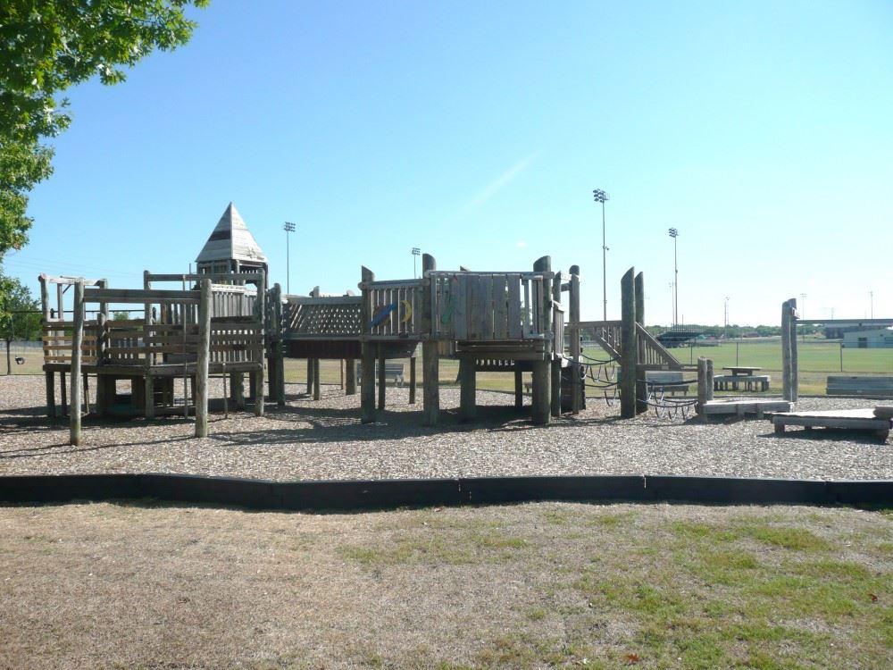 Old Wooden Structure Playground